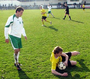 Z utkání Polaban Nymburk - FK Litol (0:2).