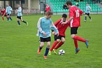 Z fotbalového utkání krajského přeboru mladších dorostenců Polaban Nymburk - Kosmonosy (3:0)