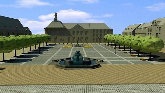 Tak by mělo vypadat brandýské náměstí podle počítačové vizualizace po opravě.