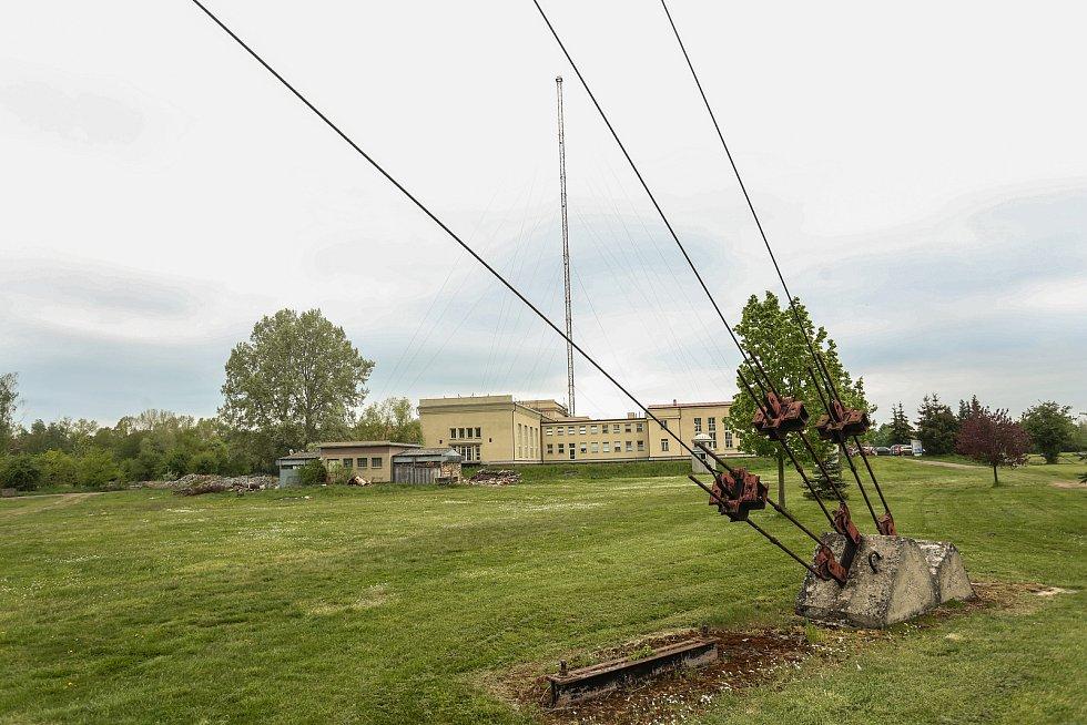 Radiotelegrafní vysílací stanice Poděbrady v květnu 2021.