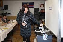 Volby prezidenta v hasičárně ve Velkém Zboží