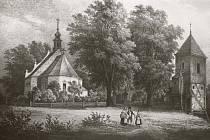 Havířský kostelík se zvonicí, 1843.
