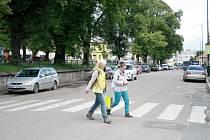Jedním z nebezpečných míst je podle zjištění i přechod na náměstí Bedřicha Hrozného