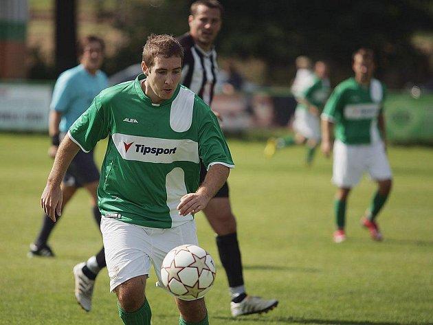 Z utkání Milovice - Sadská (2:1).