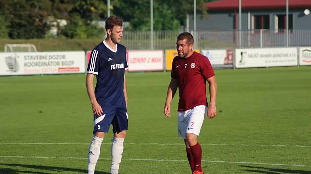 Bohemia Poděbrady porazila rezervu Českého Brodu 4:1. Dva góly dal Jan Knobloch (vpravo)