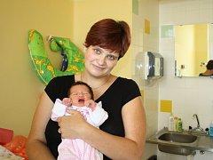 KAROLÍNKA, KÁJA. Karolína ZEMANOVÁ se narodila 1. října 2015 v 19.11 hodin. Holčička s mírami 3 050 g a 46 cm je prvním miminkem rodičů Venduly a Vratislava z Jabkenic.