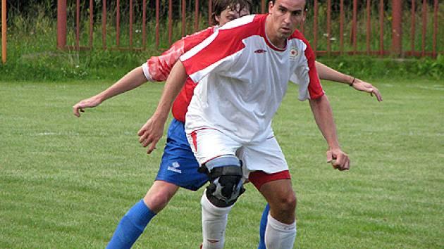 Z přípravného utkání Ostrá - Nelahozeves (0:0).