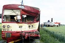 Nehoda na přejezdu u Běrunic