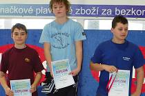 Třikrát zlatý David Noll (uprostřed)