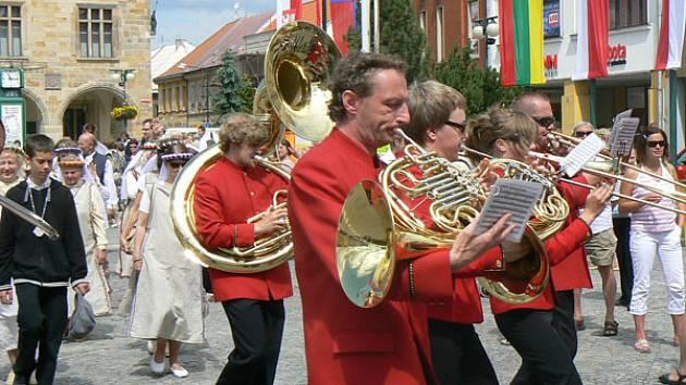 Mezinárodní festival dechových orchestrů v Nymburce.