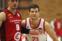 Z basketbalového utkání Ligy mistrů Nymburk - Zaragoza (98:78)