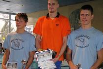 Nymburští plavci Jakub Řehák (vpravo) a Tomáš Havránek (vlevo) sklízeli úspěchy v Neratovicích