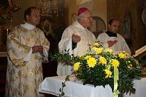 Otevření kostela v Křinci