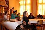 Obhajoby maturitních prací na Gymnáziu B. Hrabala