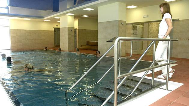 Nový bazén v hotelovém domě Felicitas na kolonádě využívají rodiny s dětmi i mateřské školky.