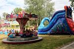 Lunapark je v Poděbradech u severního vstupu poblíž hlavního parkoviště.