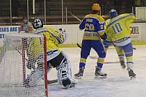Z hokejového střetnutí druhé ligy Nymburk - Břeclav (7:1)