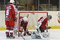 Z hokejového utkání druhé ligy Nymburk - Žďár nad Sázavou (10:3)