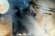 Výbuch plynu v Libici nad Cidlinou.