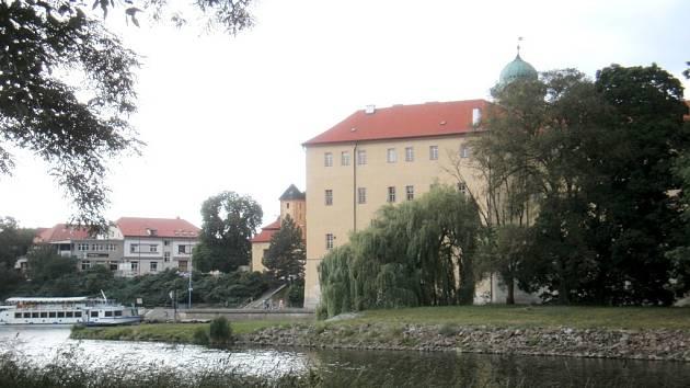 Ostrov na Labi v Poděbradech.