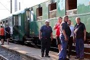 Postřižinský expres loni v květnu po návratu do Nymburka.