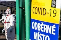 Odběrové místo pro pacienty s podezřením na nákazu koronavirem. Ilustrační foto.
