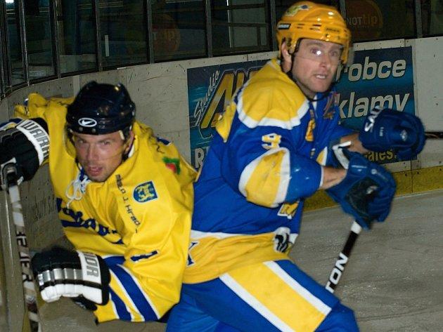 Z utkání druhé hokejové ligy Nymburk - Jindřichův Hradec (3:2)