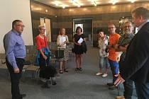 Poděbrady navštívili herci z partnerského města.