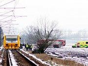 Mladík skočil u Hořátve před vlak