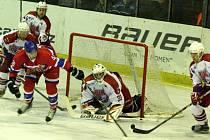 Z hokejového utkání druhé ligy Nymburk - Havlíčkův Brod (1:6)