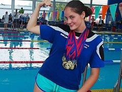 FANTAZIE. Plavkyně Simona Dobrkovská získala devětkrát zlatou medaili