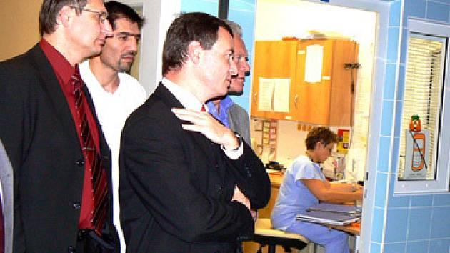 David Rath v nymburské nemocnici.