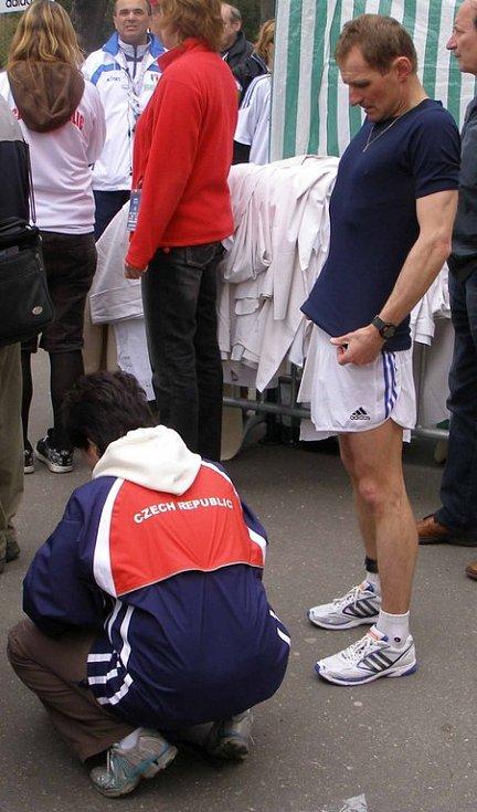 Reprezentant Miloš Holuša se připravuje na start
