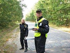 Pátrací akce v lese u Milovic