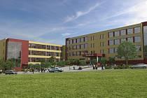 Vizualizace nové budoucí školy pro 500 dětí.