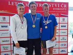 David Noll (uprostřed) se stal trojnásobným mistrem ČR.