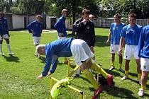 Z fotbalového tréninku liberecké juniorky.