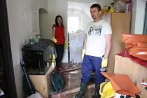 Vytopený byt Pavla Fencla v Křinci
