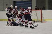 Z hokejového utkání play off Krajské soutěže mužů Poděbrady - Čáslav (3:6)