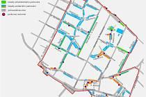 Plán parkovacího systému v Poděbradech