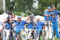 Na nymburském Tyršáku probíhá mistrovství světa v lukostřelbě handicapovaných.