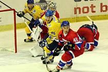 Z hokejového utkání druhé ligy Nymburk - Písek (5:2)