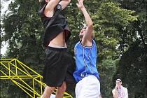 Ze streetballového turnaje v Nymburce.