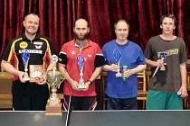 Nejlepší stolní tenisté na turnaji v Pískové Lhotě.