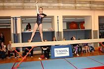 Z gymnastických závodů Poděbradská cvička