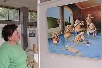 V Galerii Ludvíka Kuby v Poděbradech je do konce dubna k vidění výstava úsměvných obrazů Pavla Matušky.