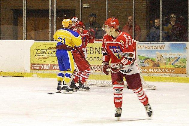 Z utkání druhé hokejové ligy Nymburk - Pelhřimov (3:0)