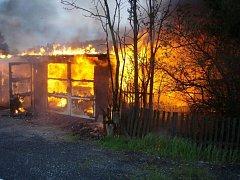 Požár na zahradě. Ilustrační foto.