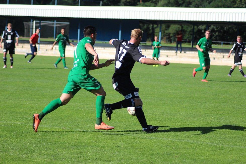 Z přípravného fotbalového utkání Kolín - Vlašim (2:6)