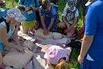Stovky dětí sledovaly ukázky z práce složek Integrovaného záchranného systému.